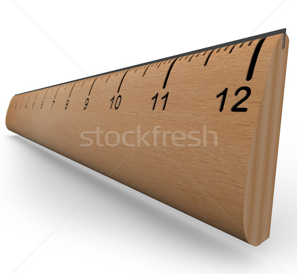 Wooden Ruler to Measure an Object in Experiment or Research Stock photo © iqoncept