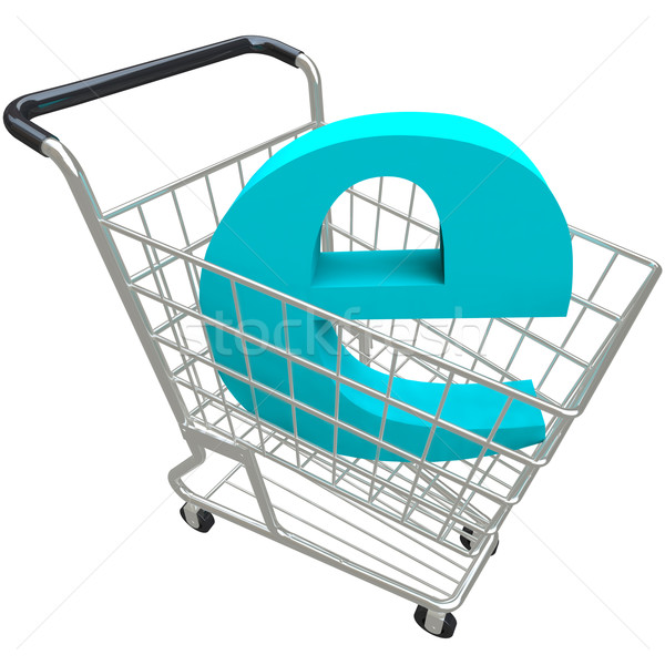 Shopping Cart Containing Letter E Stock photo © iqoncept