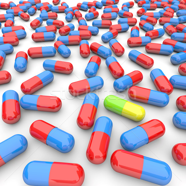 One Unique Pill Among Many Stock photo © iqoncept