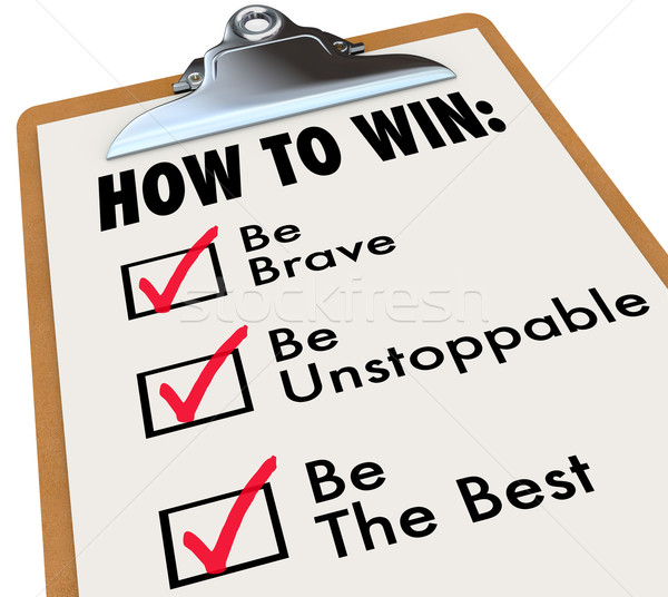 How to Win Checklist Check Marks Boxes To Do List Stock photo © iqoncept