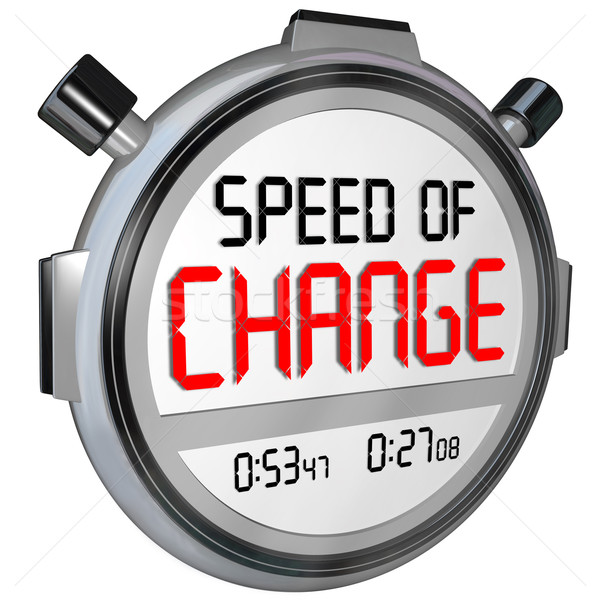 Speed of Change Stopwatch Timer Clock Time to Innovate Stock photo © iqoncept