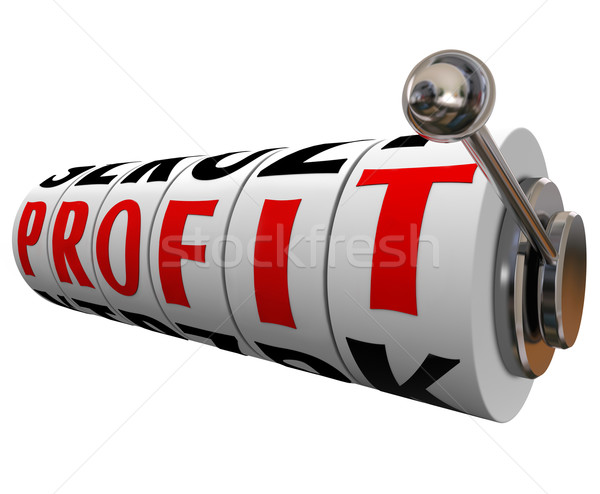 Profit Word Slot Machine Wheels Making Money Stock photo © iqoncept