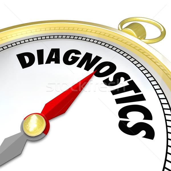 Diagnóstico brújula herramienta ayudar encontrar solución Foto stock © iqoncept