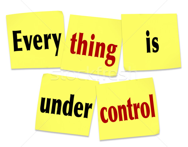 Everything is Under Control Sticky Notes Saying Message Stock photo © iqoncept