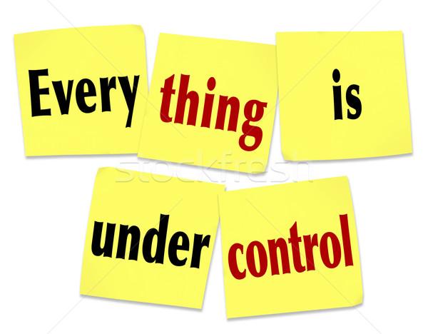 Control notas adhesivas mensaje palabras Trabajo Foto stock © iqoncept