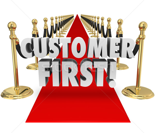 Customer First Words Red Carpet Top Priority Client Service Stock photo © iqoncept
