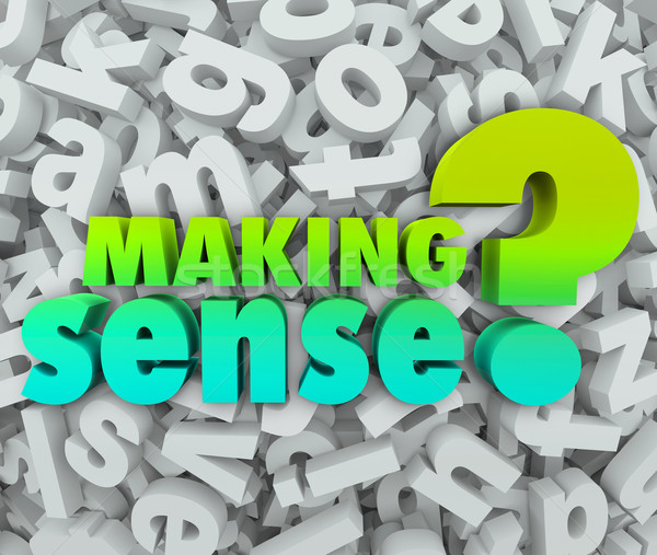 Making Sense 3d Words Letters Understanding Knowledge Grasping I Stock photo © iqoncept