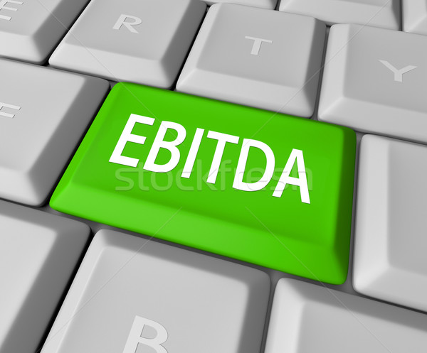 EBITDA Computer Keyboard Key Button Earnings Revenue Profit Stock photo © iqoncept