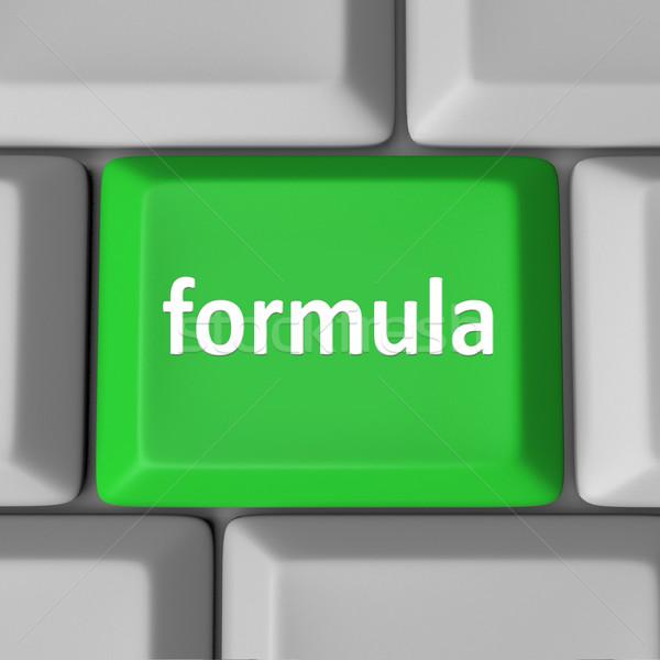 Formula Computer Key Button Calculate Figure Solution Problem Stock photo © iqoncept