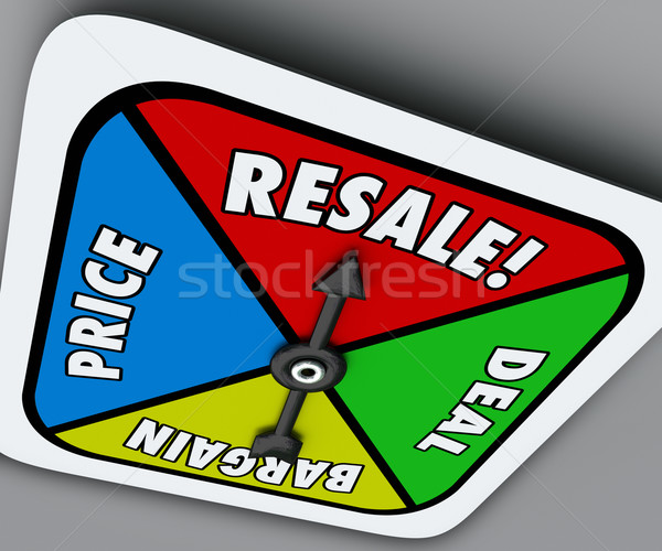 Resale Game Spinner Sell Used Preowned Products Reach Deal Barga Stock photo © iqoncept