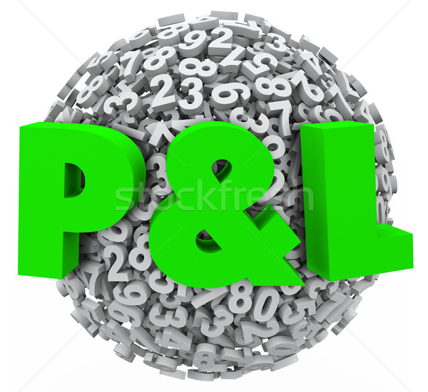 P and L Profit Loss Numbers Budget Income Revenue Figures Stock photo © iqoncept