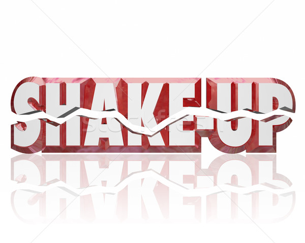 Shake-Up 3d Words Disrupt Change Innovate Improve Stock photo © iqoncept