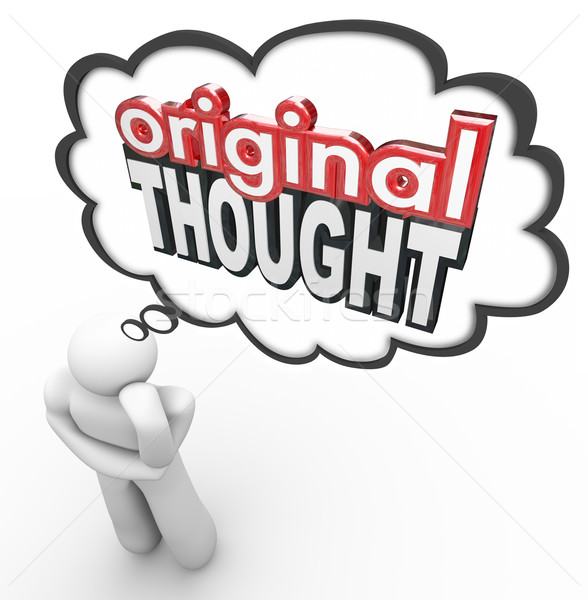 Original Thought 3d Words Thinker Creative Imaginative New Idea Stock photo © iqoncept