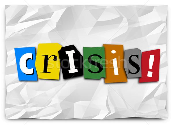 Válság jegyzet vészhelyzet sürgős helyzet probléma Stock fotó © iqoncept