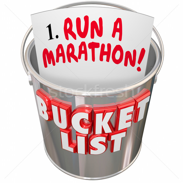 Stock photo: Bucket List Run Marathon Achieve Goal Mission Dream Big