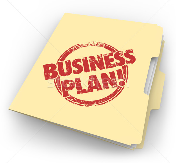 Business Plan Manila Folder Documents Strategy Vision Startup Co Stock photo © iqoncept
