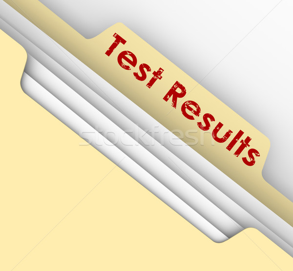 Test Results Manila File Folder Tab Evaluation Diagnosis Physica Stock photo © iqoncept