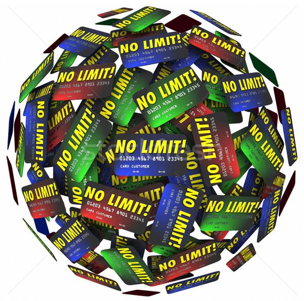 No Limit Credit Cards Sphere Endless Spending Money Borrow Debt Stock photo © iqoncept