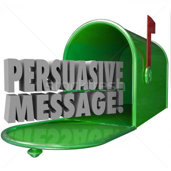 Persuasive Message Mailbox Convincing Influential Decisive Stock photo © iqoncept