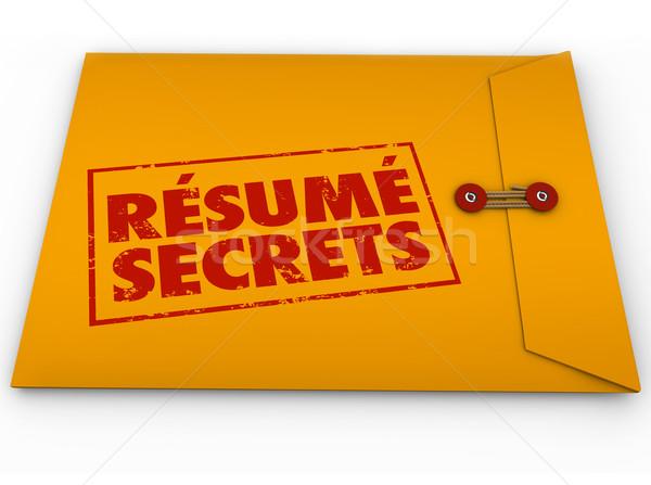 önéletrajz titkok citromsárga boríték segítség útmutatás Stock fotó © iqoncept