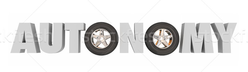 Autonomy Driver Assist Self Driving Car Vehicle Features Technol Stock photo © iqoncept