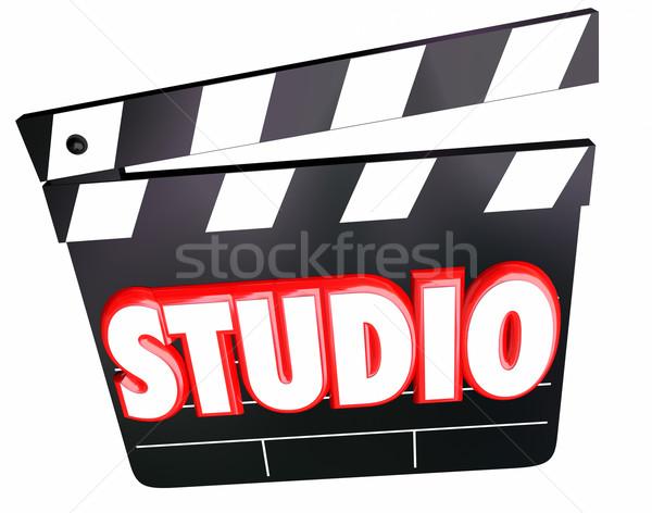 Studio Word Movie Claper Board Film Production Company Stock photo © iqoncept