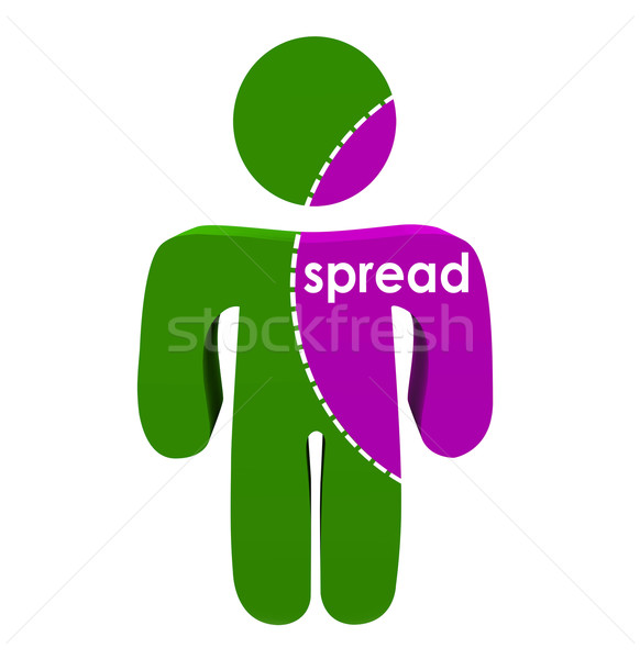 Spread Word 3d Person Infectious Disease Illness Cancer Stock photo © iqoncept