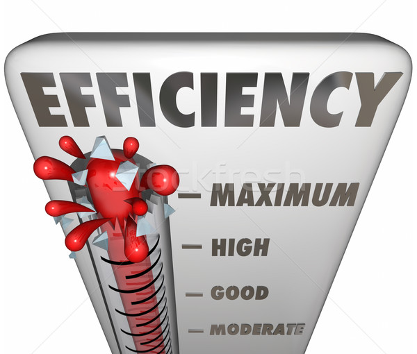 Efficiency Thermometer Measuring Effective Productivity Level Stock photo © iqoncept