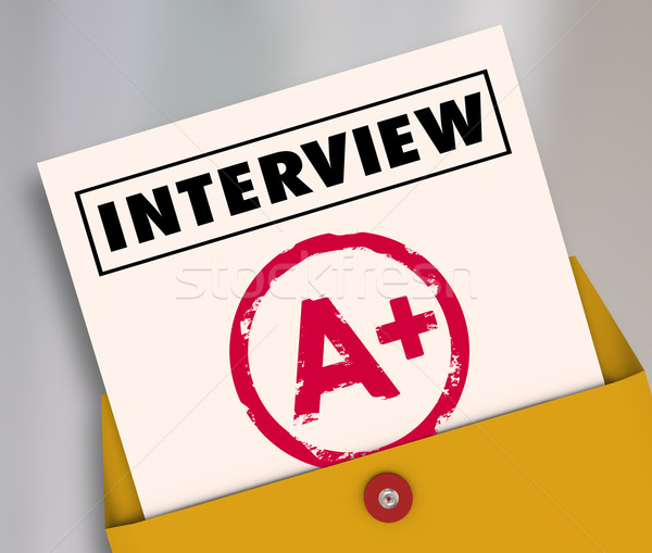 Interview Report Card Grade Answer Questions Get Job Hired Stock photo © iqoncept