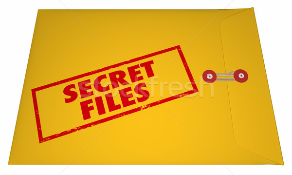 Secret Confidential Classified Files Documents Stamped Envelope  Stock photo © iqoncept