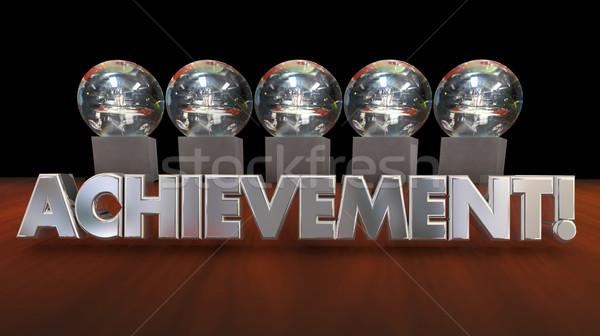 достижение достижение признание 3d иллюстрации рабочих Сток-фото © iqoncept