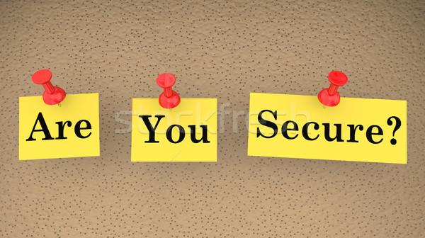 Sécurisé sûr question sécurité risque 3d illustration Photo stock © iqoncept