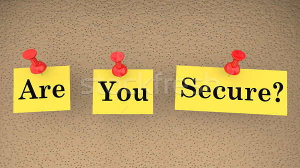 Beveiligde veilig vraag veiligheid risico 3d illustration Stockfoto © iqoncept