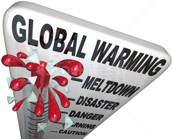 Global Warming Thermometer Shows Rise in World Temperatures Stock photo © iqoncept