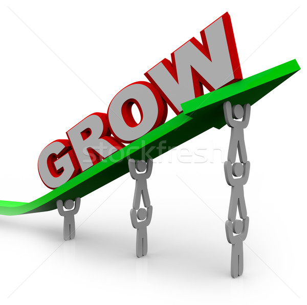 Grow - Teamwork People Reaching Goal Through Growth Stock photo © iqoncept
