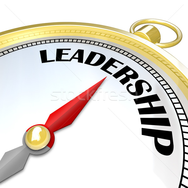 Leadership Gold Compass Symbol Of Leader Taking Charge Stock Photo