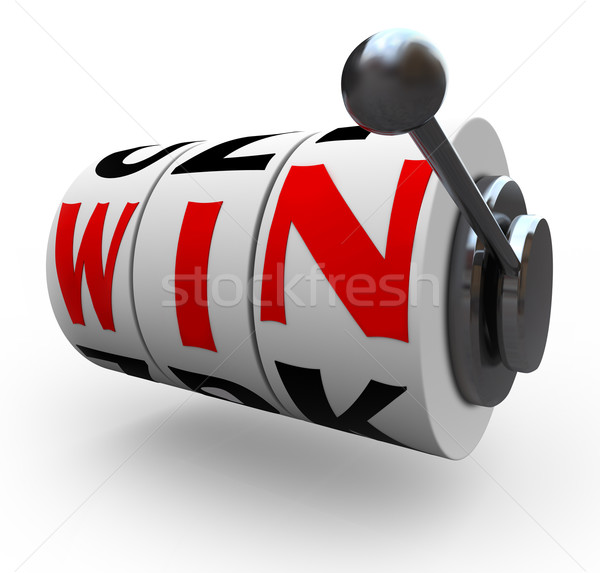 Win Word on Slot Machine Wheels - Gambling Stock photo © iqoncept