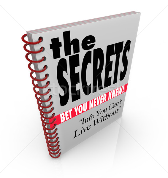 The Secrets Book of Revealed Information and Knowledge Stock photo © iqoncept
