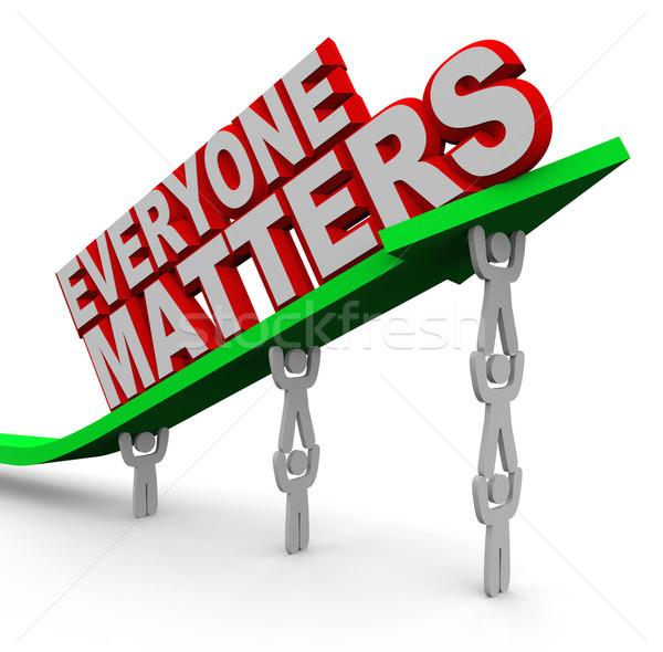 Everyone Matters Teamwork People Lifting Arrow Stock photo © iqoncept