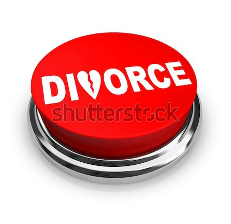 Divorce - Red Button Stock photo © iqoncept