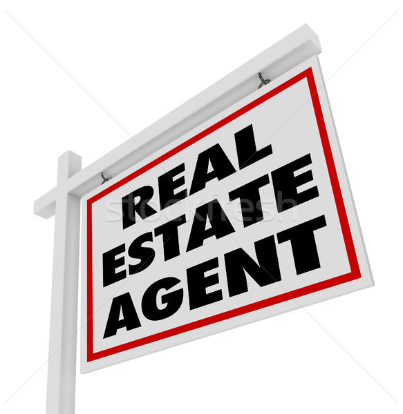 Real Estate Agent Sign Advertising Agency Stock photo © iqoncept
