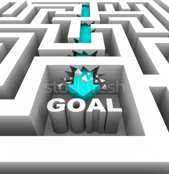 Breaking Through Walls to Reach a Goal Stock photo © iqoncept