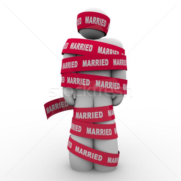 Căsătorit om birocratie prizonier prins persoană Imagine de stoc © iqoncept