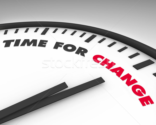 Time for Change - Clock Stock photo © iqoncept