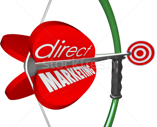 Dirigir marketing arco alvo novo clientes Foto stock © iqoncept