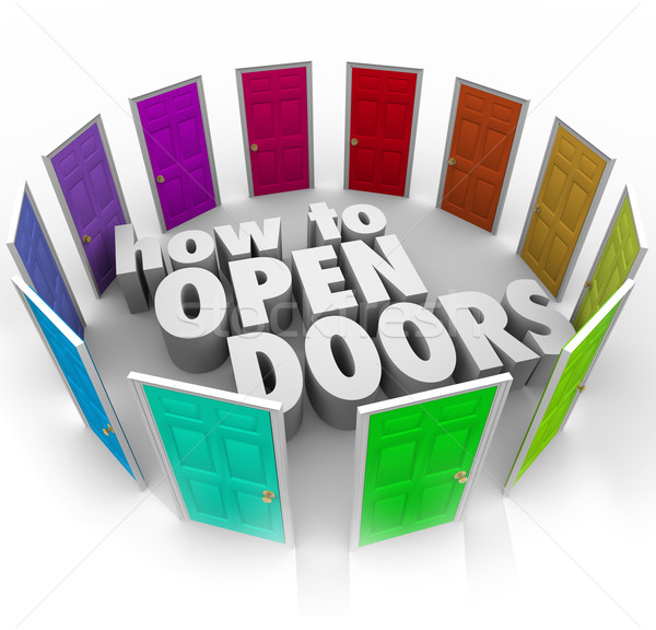How to Open Doors Words Opportunity Entry Access New Paths Stock photo © iqoncept