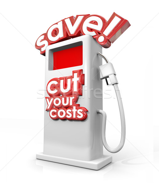 Save Fuel Gas Pump Filling Station Cut Your Costs Economy Budget Stock photo © iqoncept