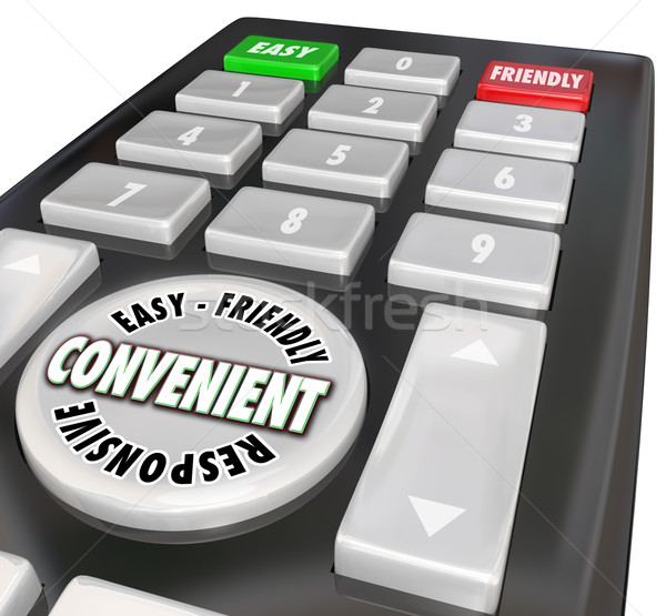 Convenience Remote Control User Friendly Easy Responsive Words Stock photo © iqoncept