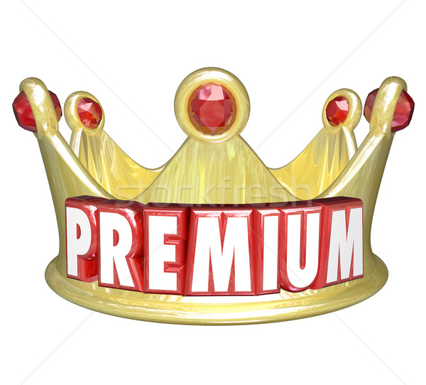 Premium Word Gold Crown Top Tier Paid Customer Stock photo © iqoncept