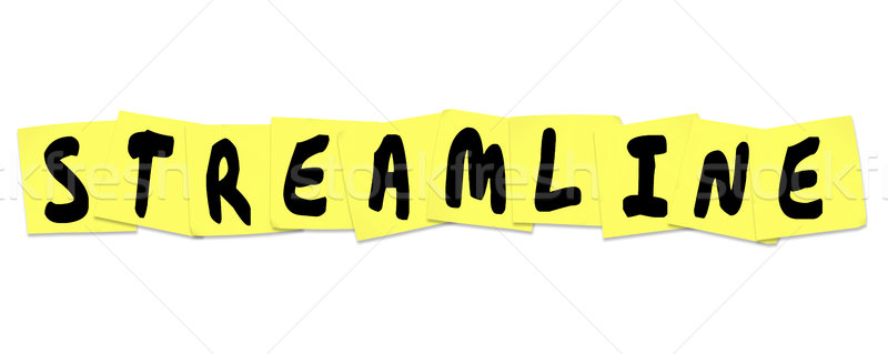 Streamline Word Sticky Notes Productivity Efficiency Improvement Stock photo © iqoncept